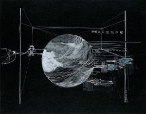 space drawing, interieur