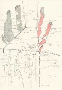 pencil and color pencil on paper, 26 x 18 cm, 2015